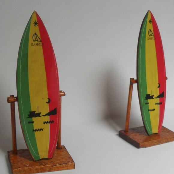Mini Planche De Surf Deco : Mini prancha de surf reggae decorativa no elo efeito