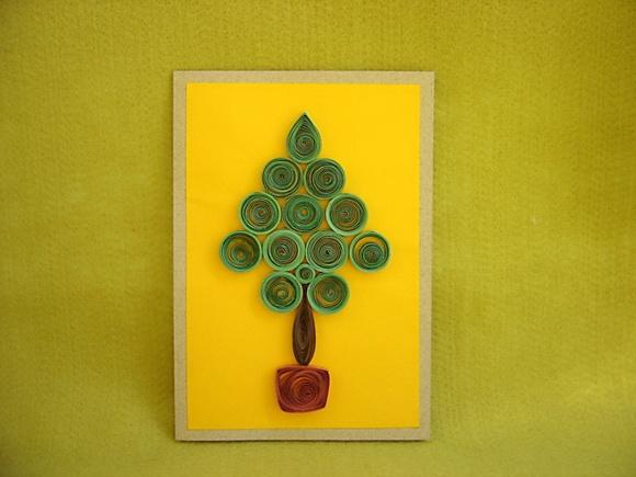 Cartão Árvore de Natal em Quilling no Elo7 | Ateliê ...