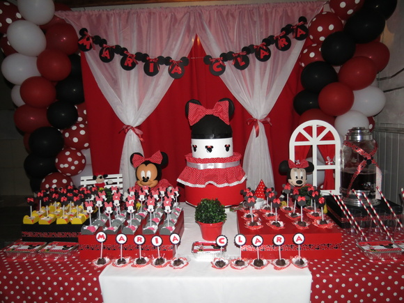 Decoração de Festa da Minnie  Lilo´s Atelier  Elo7