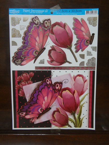 Papel Decoupage 3d Com Hot Stamping