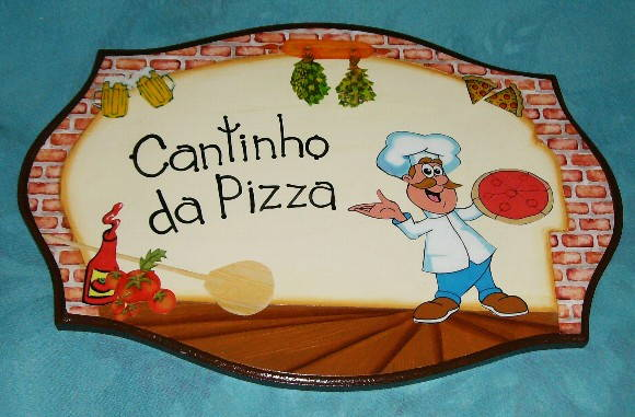 PLACA CANTINHO DA PIZZA