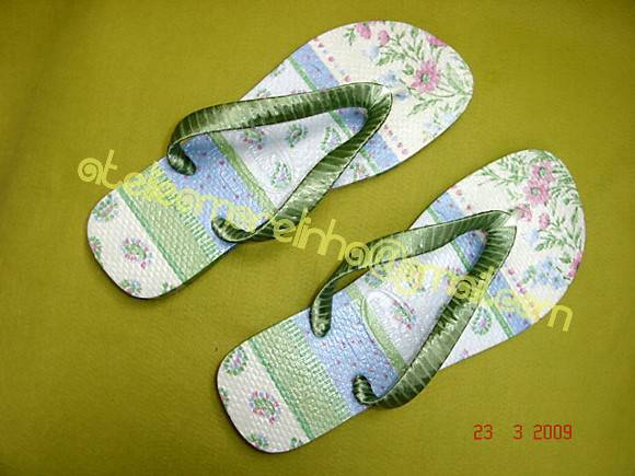 Chinelo Customizado - Decoupage 2