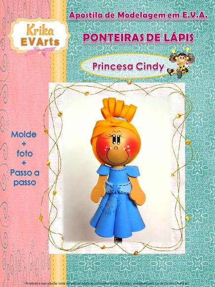 Puntera de Lápiz Princesa Cenicienta Apostila-ponteira-princesa-cindy-cinderela