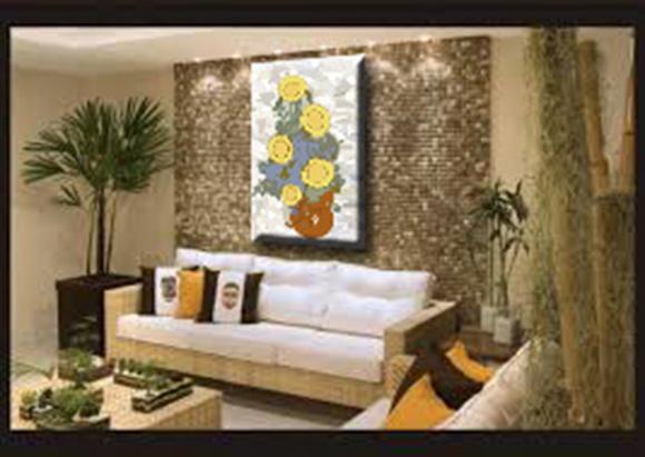 Quadro sala de estar ou jantar girassol no elo7 andreia for Sala de estar quadro