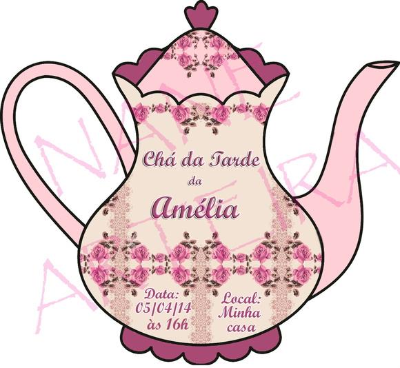 Excepcional Convite Chá da Tarde | Elo7 MU45