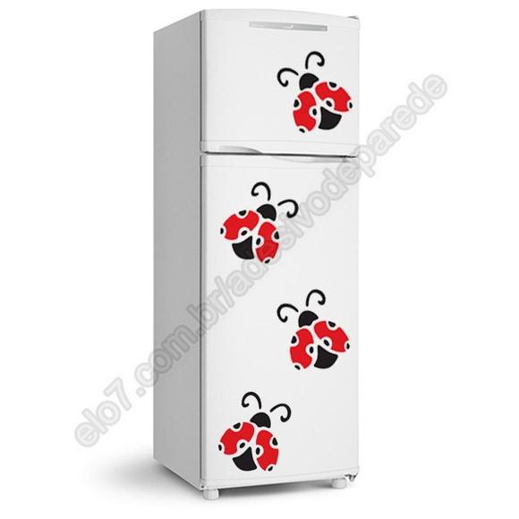 Adesivo Anticoncepcional Evra ~ Adesivo de geladeira 4 joaninhas BRINDE 1 Pinguim de