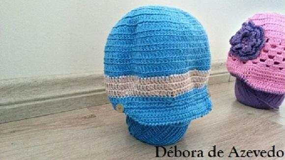 7274362f7c0c2 Boina de Croche para bebê - Menino Azul no Elo7