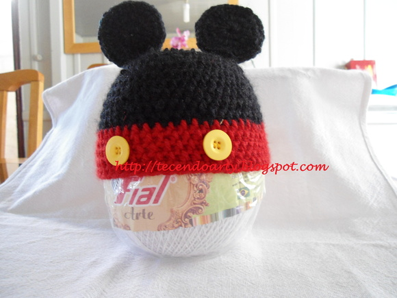 Touca Newborn do Mickey