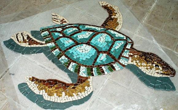 Tartaruga mosaico cer mica mosaicos monica elo7 for Mosaico ceramica