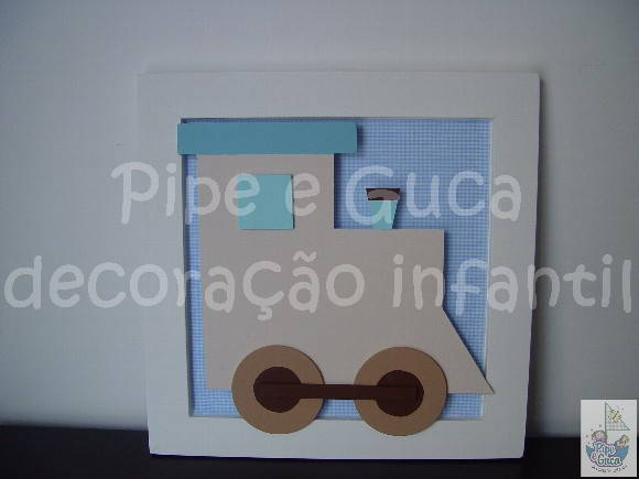 (DO 0030) Quadro decorativo trenzinho
