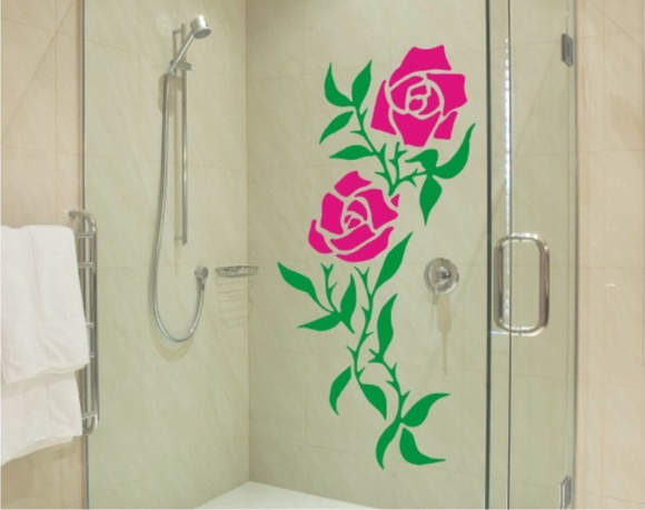 Adesivo De Parede Arvore Mercado Livre ~ Adesivo para Box de banheiro Ramo de Rosas Vetor e Imagem Elo7