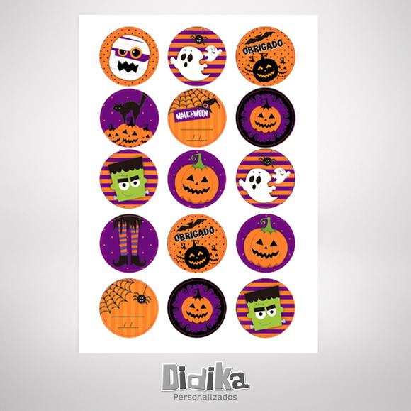 Cartela de Adesivos Halloween no Elo7 Didika Personalizados (47DC28)