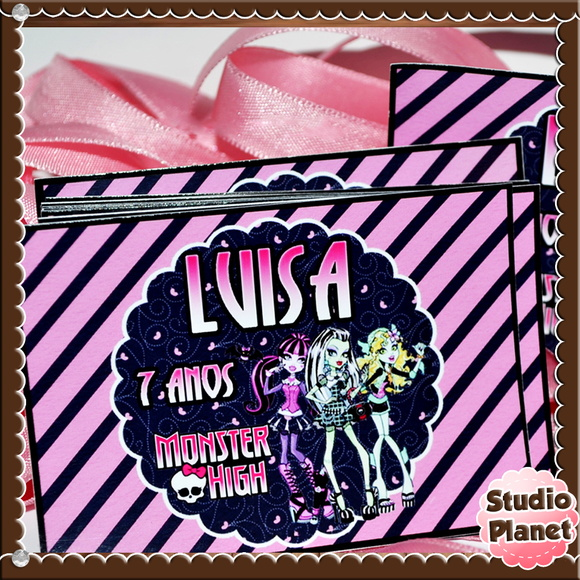 Rótulo tubete Monster High