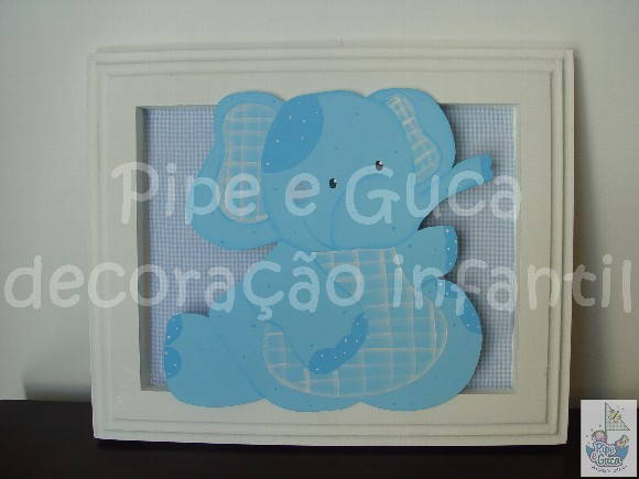 (DO 0005) Quadro decorativo elefante