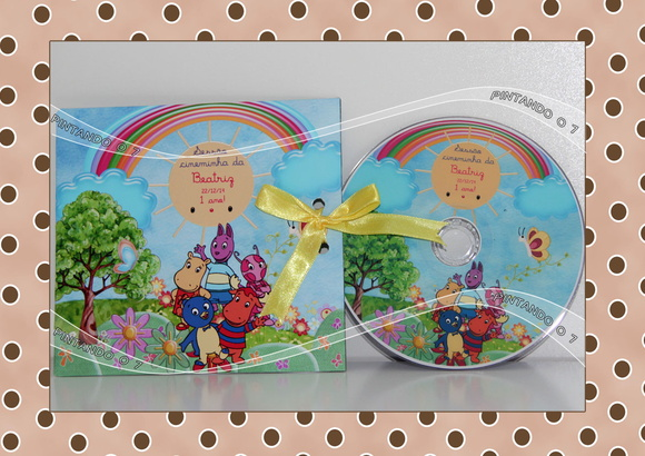 DVD ou CD personalizado Backyardigans