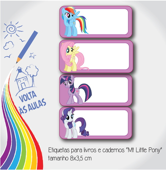 "Etiqueta escolar ""My little pony"""