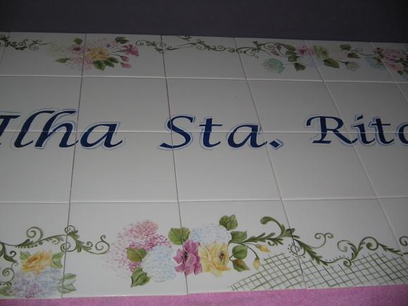 Placa de endere o vendida no elo7 ateli ana franco 4ae21c - Pintura sobre azulejo ...