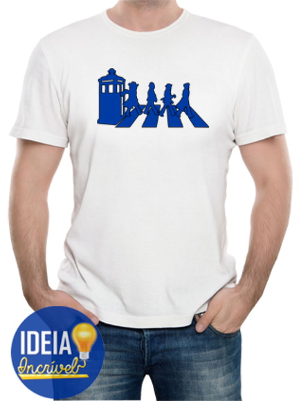 Camiseta masculina Doctor Who