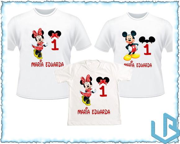 bba6adff4b KIT 3 Camisetas Personalizadas Minnie 1 no Elo7