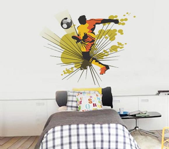 Adesivo Para Furo De Orelha ~ Adesivo de Parede Infantil Futebol Balihai Stickers Elo7