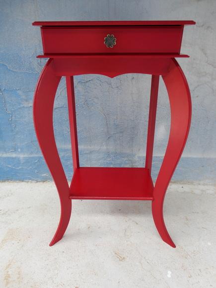Artesanato Em Londrina ~ Aparador Alto Retangular Vermelho no Elo7 Jasmin Presentes (4E7731)