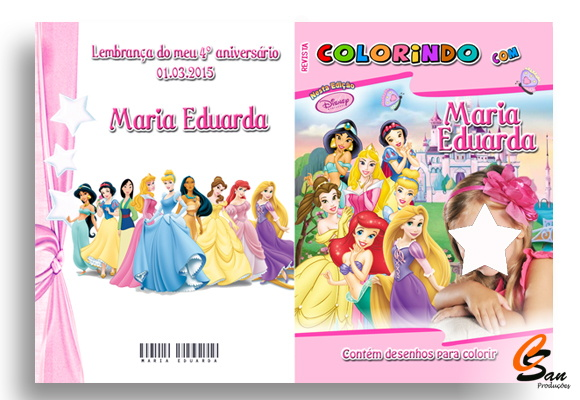 Revista de Colorir Princesas da Disney