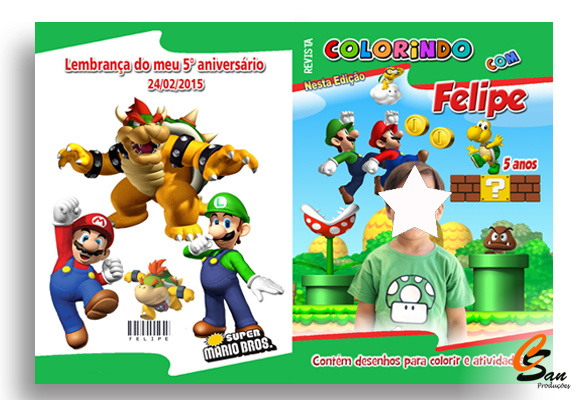Revista de Colorir Super Mario Bros