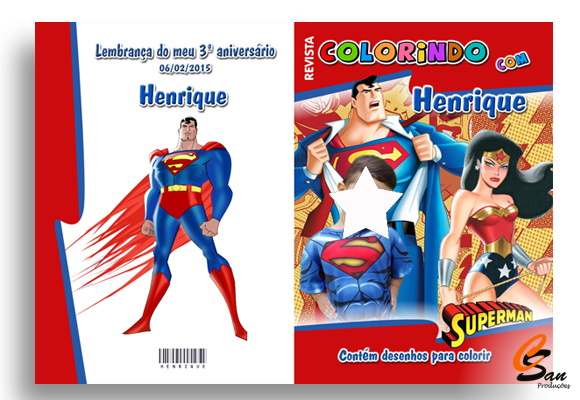 Revista de colorir Heróis