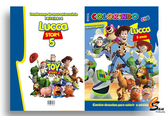 Revista de Colorir Toy Story