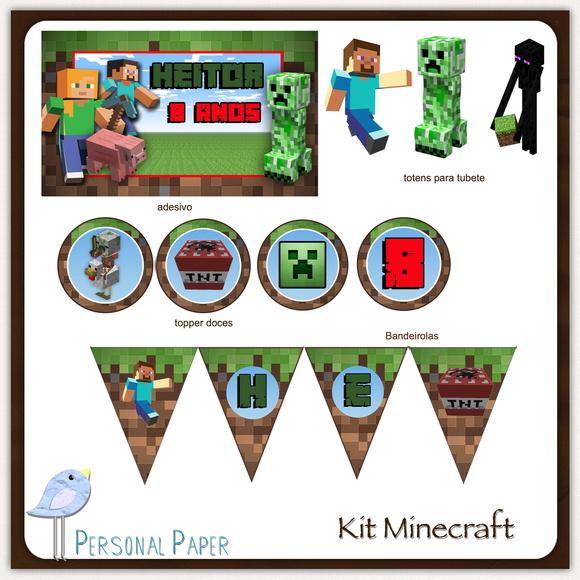 Festa Minecraft Para Imprimir Elo7