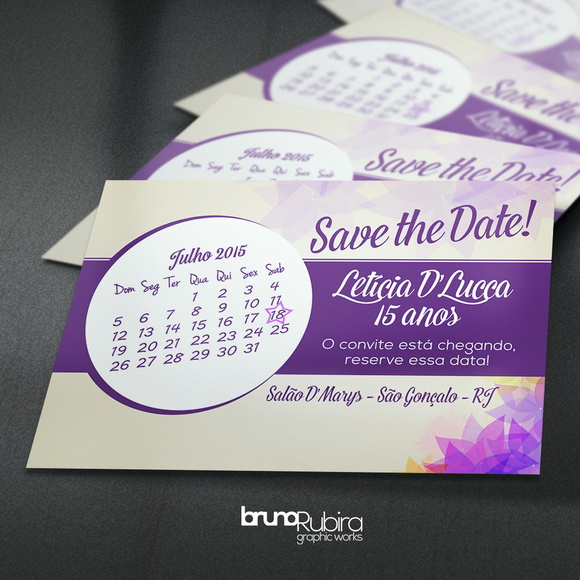 Save the Date 15 Anos - Magnético