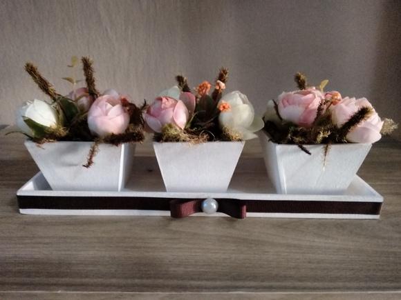 Conjunto de vasos decorativos com flores no elo7 bella for Conjunto de espejos decorativos