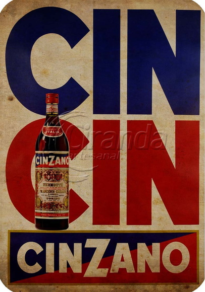 Placa Decorativa Cinzano