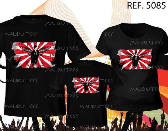 camiseta de banda rock kit com 3