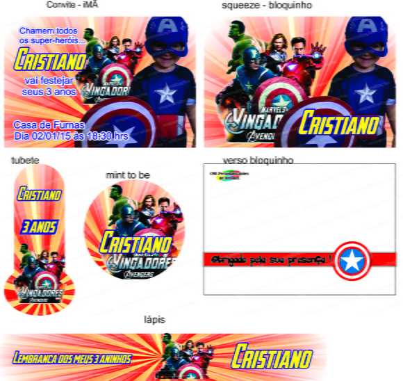 KIT DIGITAL - Vingadores mod 02