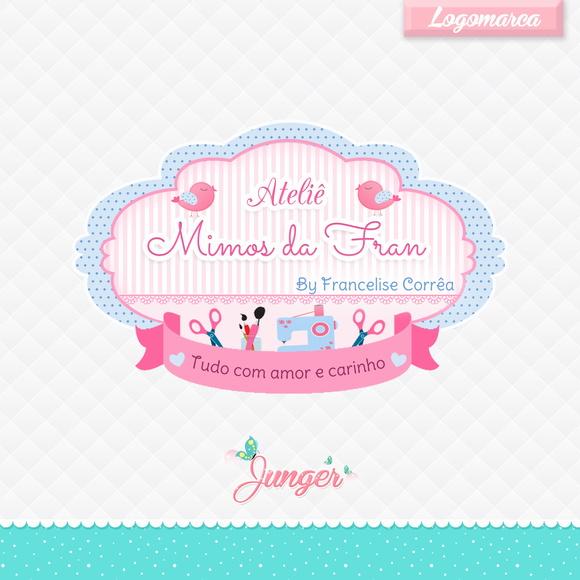 Aparador Com Gavetas ~ Logomarca Ateli u00ea Mimos da Fran no Elo7 Junger Design