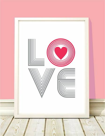 Poster A4 Love 80's