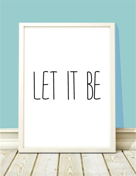 Poster A4 Let it Be
