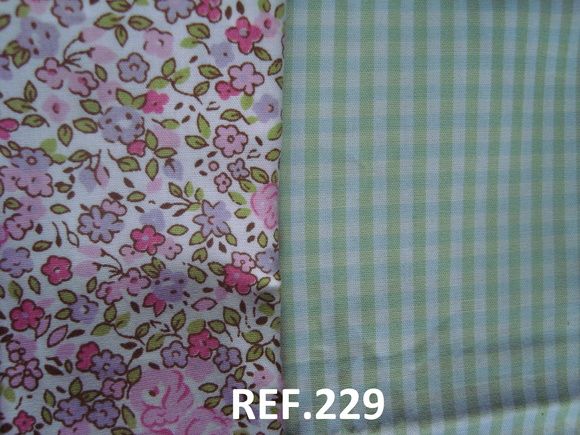T229 Duo Tecido 80x40 + 20x60 Floral