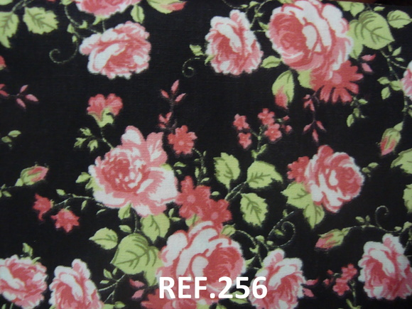 T256 Duo Tecido 140x30 + 35x35 Floral