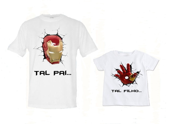 KIT CAMISETAS IRON MAN
