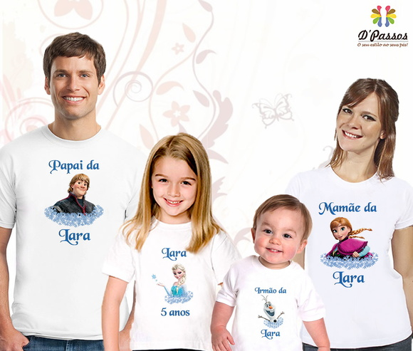 Kit 4 camisetas- Frozen 03