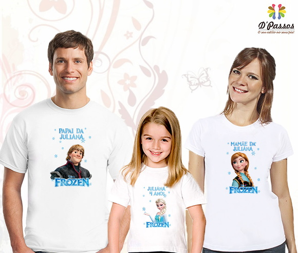 Kit 3 camisetas- Frozen 04