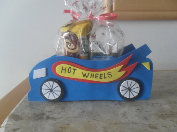 Porta doces ou guardanapos Hot Wheels