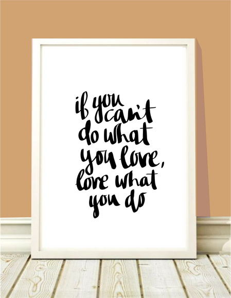 Poster A4 Do what you love
