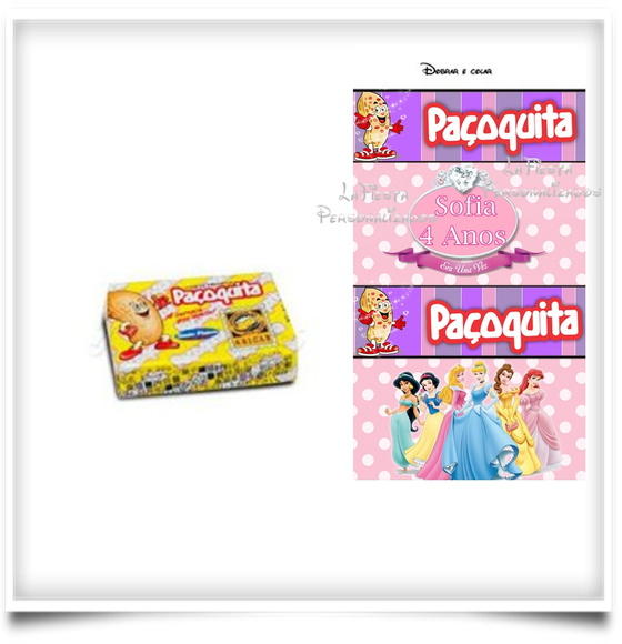 Rotulo Paçoquita As Princesas
