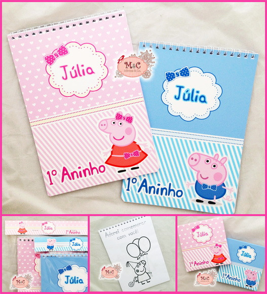 Kit Para Colorir - Peppa Pig