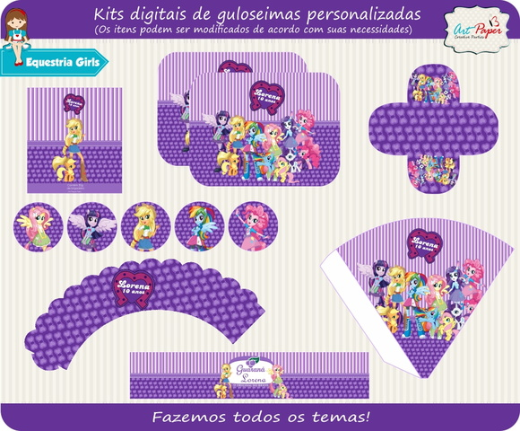 Kit guloseimas digital equestria girls
