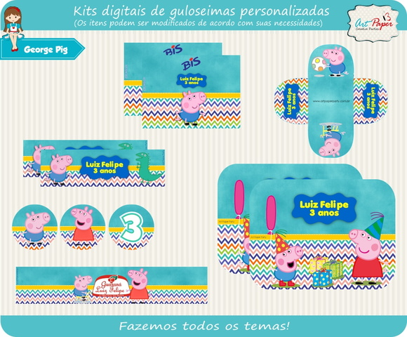 Kit de guloseimas George Pig Digital