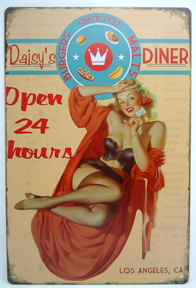 Placas Vintage King de Metal 30x20 V-245